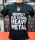 Respect Old School Heavy Metal - Same (Camiseta Manga Curta - Tamanho P)